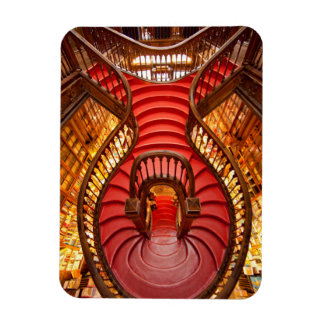 Ornate red stairway, Portugal Rectangular Photo Magnet