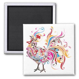 Ornate Rooster Magnet