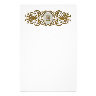 Ornate Scrolled Monogram Letter Stationery