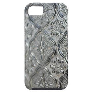 Ornate Silver Glass Design iPhone 5 Cover
