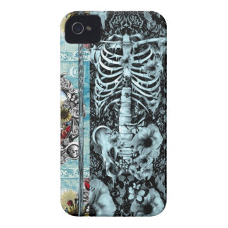 Ornate skull collage iPhone 4 Case-Mate case
