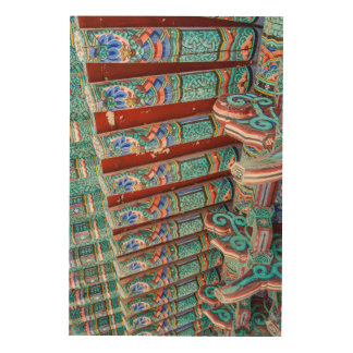 Ornate Temple Roof Wood Wall Decor