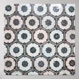 Ornate tiles in Topkapi Palace Poster