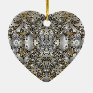 Ornate Victorian Style Heart Shape Ornament