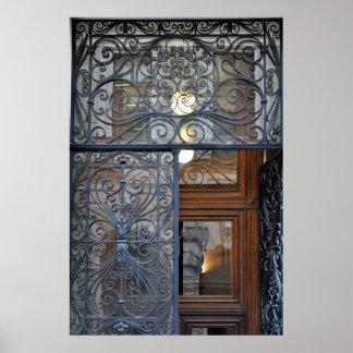 Ornate Viennese Door Poster