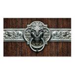 Ornate Vintage doorknocker #1D general purpose Business Card Templates