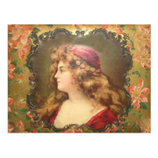 Ornate Vintage Frame With Portrait Postcard