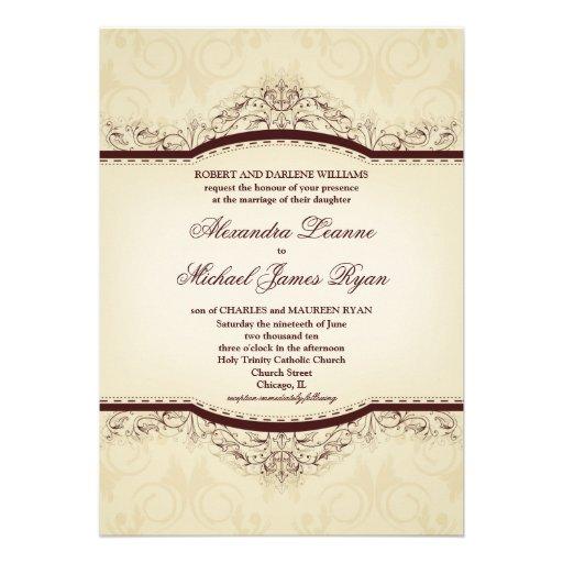 Ornate Vintage Wedding Invitations