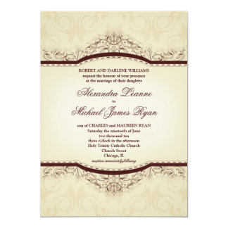 Ornate Vintage Wedding Invitations