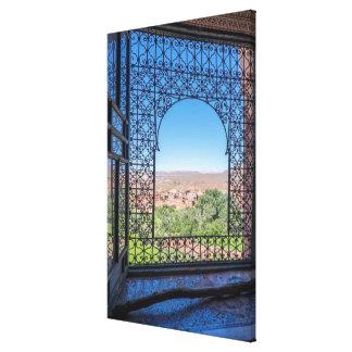 Ornate Window Decoration Canvas Print