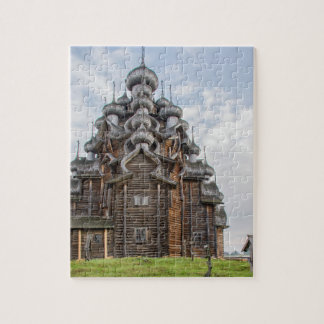Ornate wooden church, Russia Jigsaw Puzzle