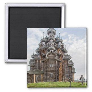 Ornate wooden church, Russia Magnet