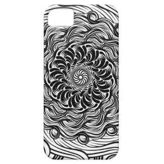 Ornate Zen Doodle Optical Illusion Black and White Barely There iPhone 5 Case