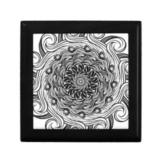Ornate Zen Doodle Optical Illusion Black and White Gift Box