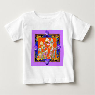 Ornately Lilac framed Iris Garden by sharles Baby T-Shirt