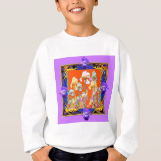 Ornately Lilac framed Iris Garden by sharles Sweatshirt