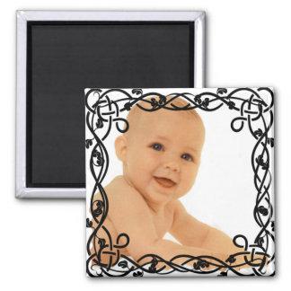 ornement noir square magnet
