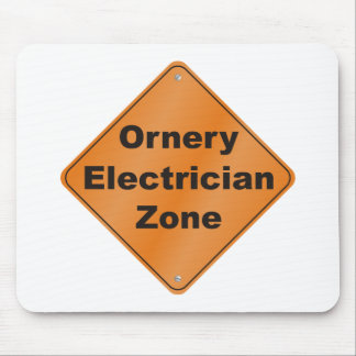 Ornery Electrician Mouse Pad