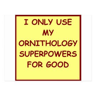 ornithology postcard
