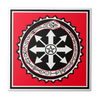 Oroburos with Chaos Star Ceramic Tile
