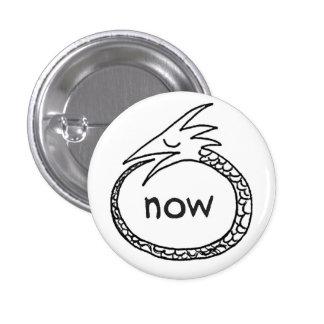 orouboros now, yo 3 cm round badge