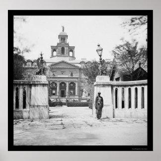 Orphan Asylum in Charleston, SC 1865 Print