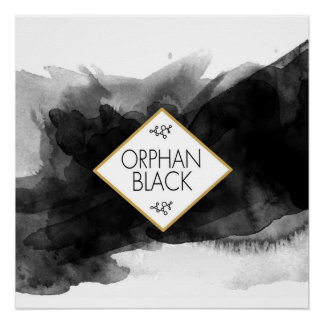 Orphan Black Black Watercolor Poster