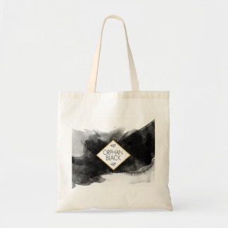 Orphan Black Black Watercolor Tote Bag