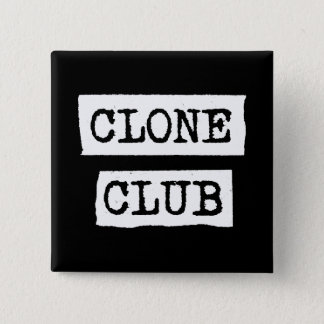 Orphan Black | Clone Club Typography 15 Cm Square Badge