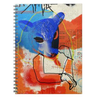 Orphan Black   MK - Sheep Mask Silhouette Notebook
