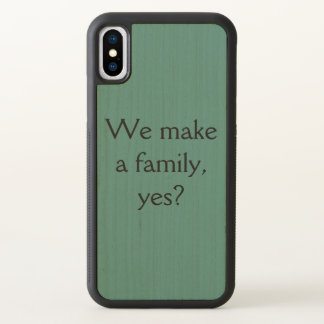 Orphan Black quote we make a family yes iPhone X Case