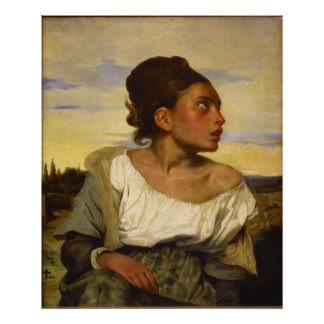 Orphan Girl at the Cemetery by Eugene Delacroix Print