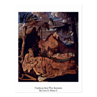 Orpheus And The Animals By Leu D. Hans J. Postcards