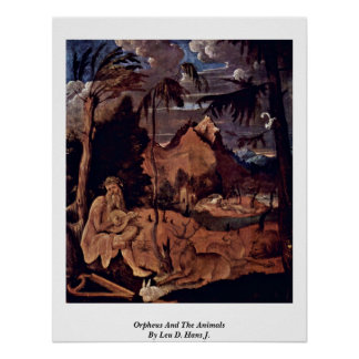 Orpheus And The Animals By Leu D. Hans J. Poster