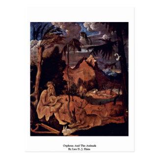 Orpheus And The Animals By Leu D. J. Hans Postcard