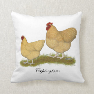 Orpingtons Lemon Cuckoo Cushion