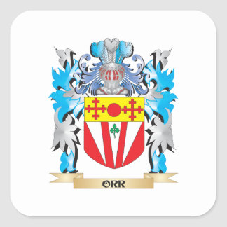 Orr Coat of Arms - Family Crest Square Sticker