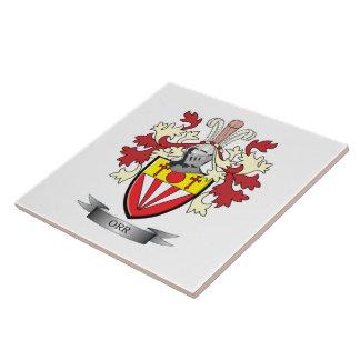 Orr Family Crest Coat of Arms Tile