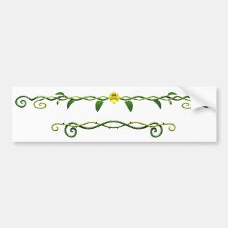 Orrnate Vines, Leaves & Flower Bumper Sticker