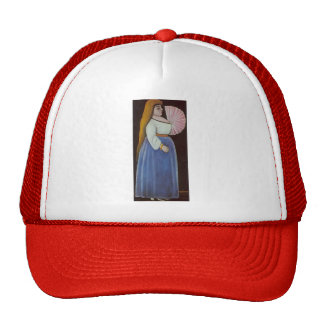 Ortachali Beauty with a Fan by Niko Pirosmani Hats