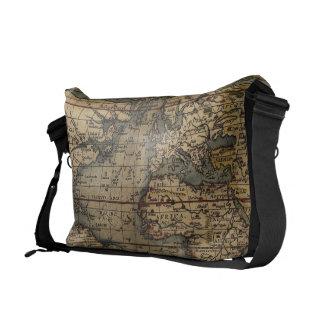 Ortelius World Map 1570 Messenger Bags