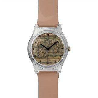 Ortelius World Map 1570 Wrist Watches