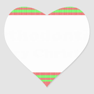 Orthodontist ulgy christmas heart sticker