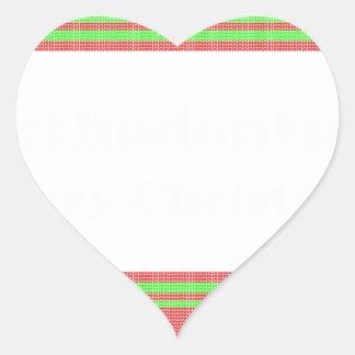 Orthodontist ulgy christmas heart sticker