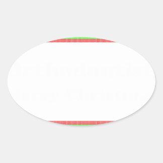 Orthodontist ulgy christmas oval sticker