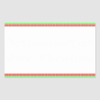 Orthodontist ulgy christmas rectangular sticker