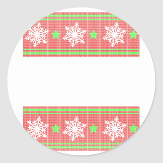 Orthodontist ulgy christmas round sticker