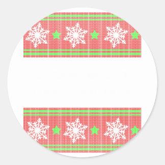 Orthodontist ulgy christmas round sticker
