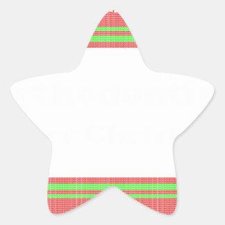 Orthodontist ulgy christmas star sticker
