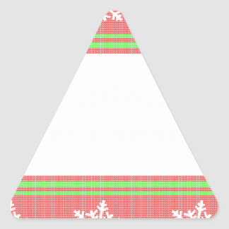 Orthodontist ulgy christmas triangle sticker